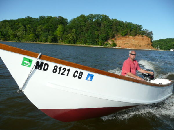 Steve enjoying his skiff